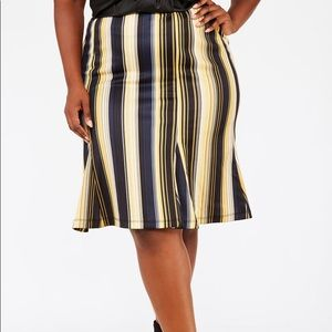 NWT Striped skirt